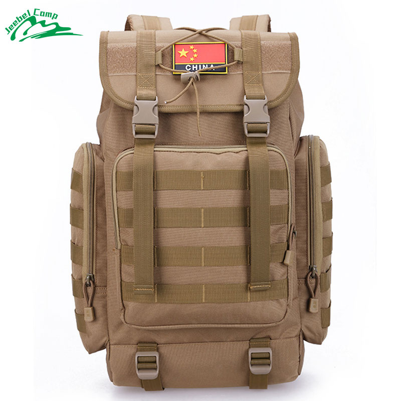 Jeebel 40L Military Tactical Backpack Army Molle Waterproof Sports Bag Climbing Rucksack Outdoor Hiking Camping Hunting large camping backpack molle tactical military rucksack outdoor sports bag waterproof hiking hunting backpacks camouflage x242wa