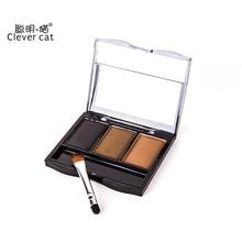 Cake Eye Brow Powder Liner Shadow Makeup Set Tint Eyebrow Wax Paint Palette Sombrancelha Enhancer + Brush Make Up Cosmetic Kit