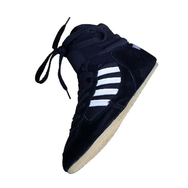 2016 Pro  wrestling shoes  for men boxing shoes  Pro wrestling gear boxing boots professional wrestling shoes men leer chinees