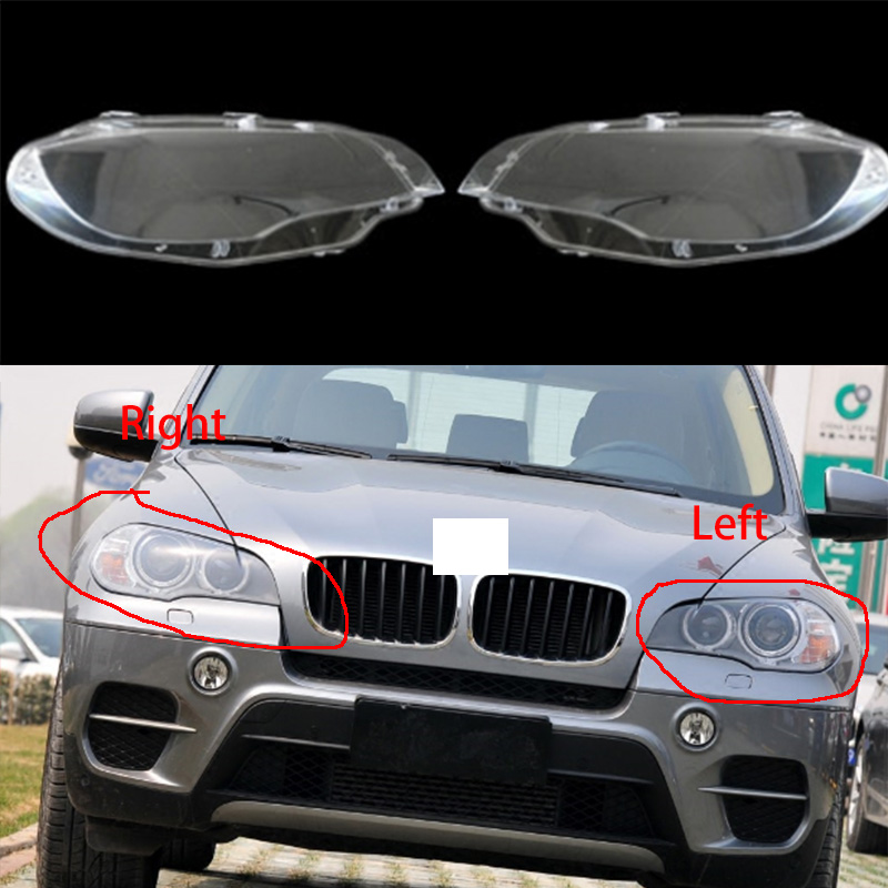 1pcs 68 5x22 5x8cm Headlight Lens Lamp Cover Headlight Cover Lampshade Bright Clear for BMW 2008