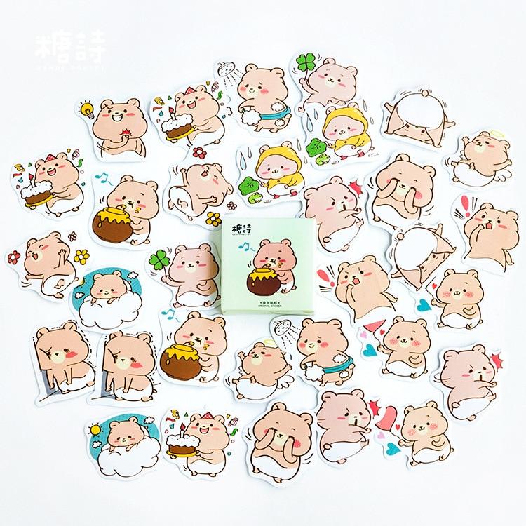 Orso Goloso Bear Decorative Stationery Stickers Scrapbooking DIY Diary Album Stick Label