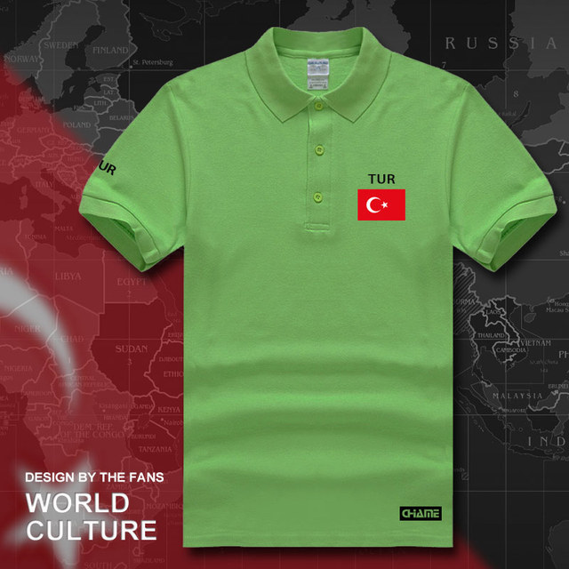 Turkey TUR polo shirts men short sleeve white brands printed for country  2017 cotton nation team