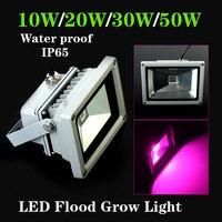 Su Geçirmez IP65 10 W/20 W/30 W/50 W Sel Işık Bitki Büyümeye Yol Açtı Lambaları Hidroponik Sebze ve Çiçeklenme Bitkiler Için en iyi