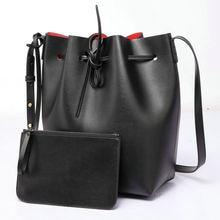 Women Shoulder Bag Famous Brand Bucket Bag Drawstring Bucket Bag Crossbody Messenger Handbag with Small Pouch