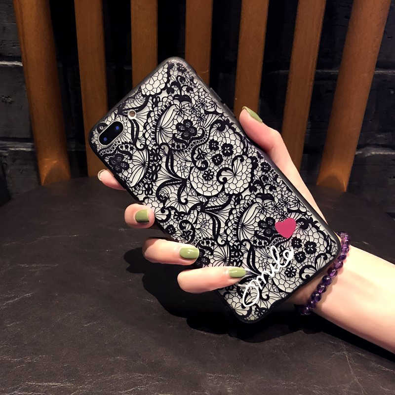 Capa para iphone 7 8 6 s 6 s plus 5 5se x 10 xr xs max macio + capa para telefone pc flor sexy para iphone 6 plus 6 splus 7 plus 8 mais fundas
