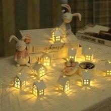 Светодиодный гирлянда, деревянный дом, светодиодный светильник, 1,5 м, 10 светодиодный s комнатный декор, струнная лампа, Свадебная вечеринка, праздничный Сказочный светильник, s, новинка, ночник, лампа