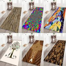 Non-Slip Water Absorption Mat Carpet 3D Printed Thickened Flannel Fabric Area Rug Christmas Kitchen Bath Supplies brick wall pattern indoor outdoor water absorption area rug