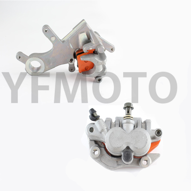 Free Shipping Motorcycle Front& Rear Radial Brake Calipers Brake Pump For Hon da  CR125 / CR250 2002-2007 03 04 05 06 Metallic the construction of yb125sp motorcycle soldier front brake pump