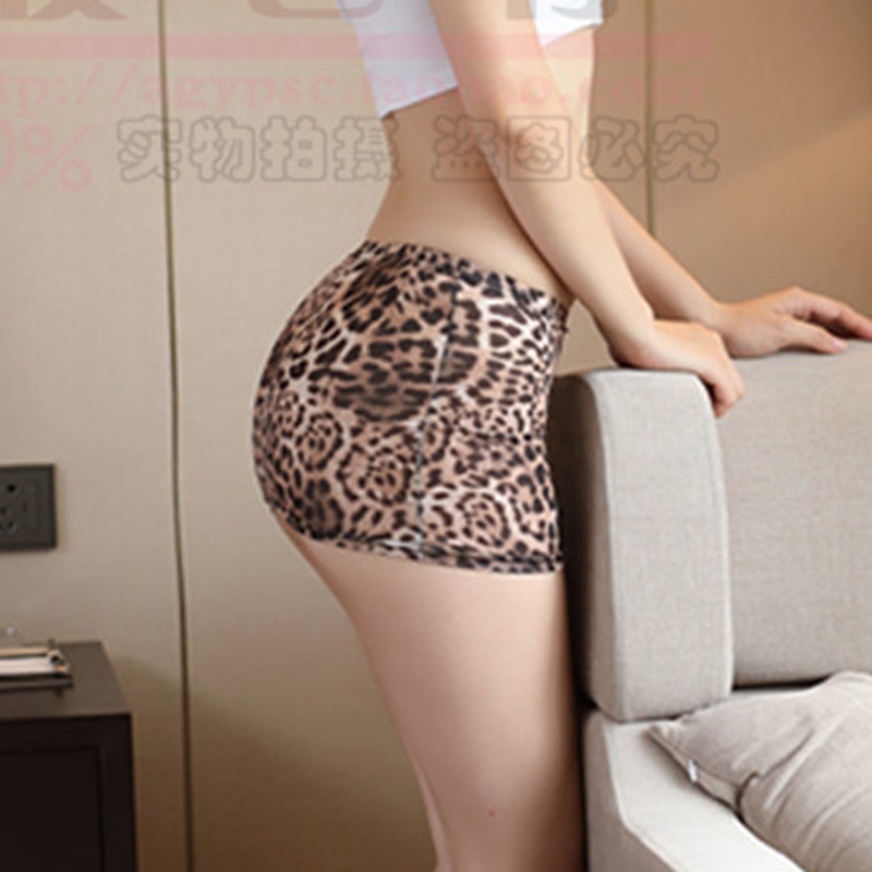 Sexy Women Ice Silk Leopard Micro Mini Skirt Tight Pencil Skirts Sheer Transparent Skirt Night Club Skirt Fantasy Erotic Wear