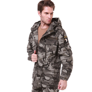 Image 3 - 군사 유니폼 남자 M65 트렌치 코트 남성 단색 위장 Wadded 101st 공수 포스 양털 재킷 코트 남자 의류 BF802