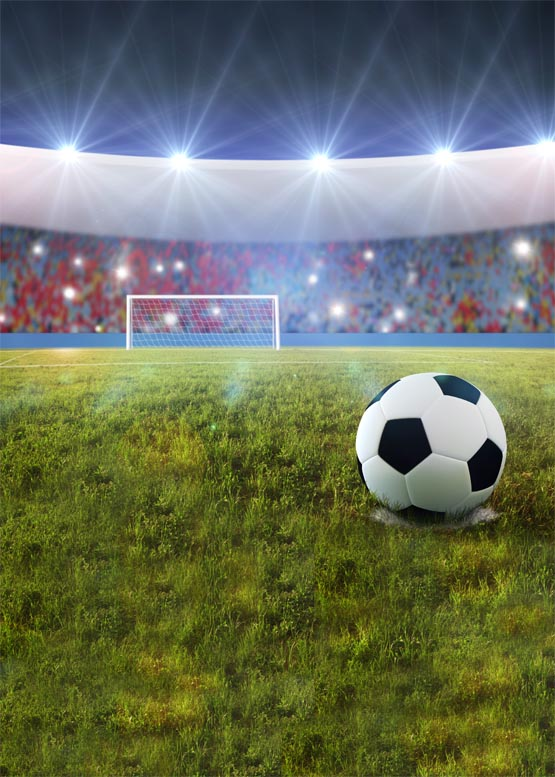Soccer field vinyl photography backdrops football fans photo background for photo studio photographic background S-1166 soccer fans football colorful hair coser wig wild curl up tuba ball blast head clown hilarit party headwearing