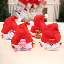 Cartoon Hats Kids Red Elk Christmas Decoration Hat New Arrival Hot Selling Children Women Men Cap for Christmas Party Props(China)