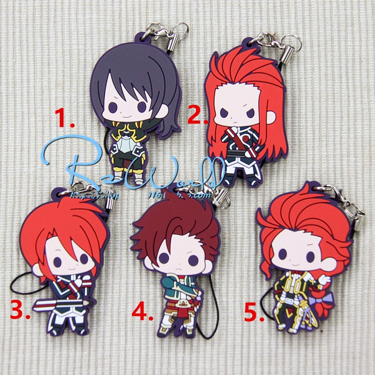 Tales of Symphonia Friends Special Ver. Luke Fone Fabre Lion Magnus Japanese Rubber Keychain rondell 377 symphonia