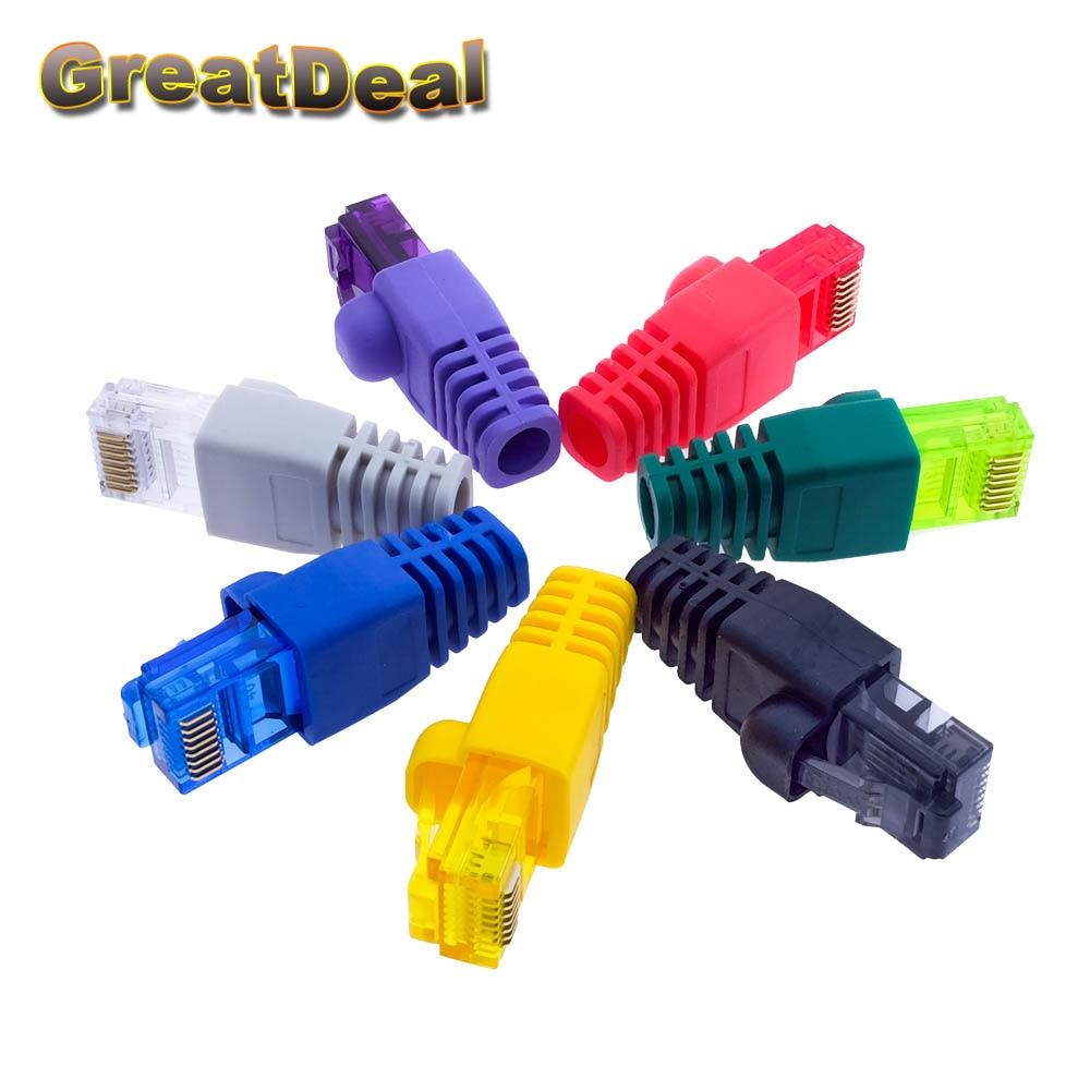 Färgglada CAT5 CAT5e RJ45-kontakt RJ45 Modulära kontakter Nätverk Ethernet-kabeluttag RJ45-kontakter HY1544
