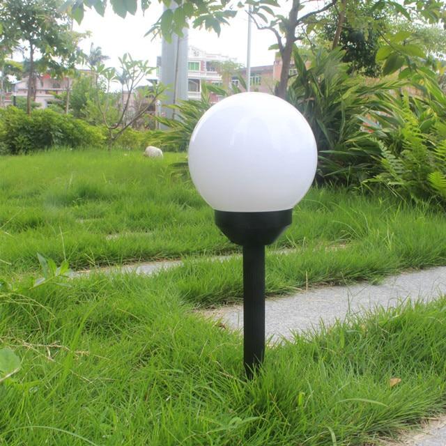 Pearlstar 4pcs Spherical Decorations Led Solar Lights Color Gradient  Outdoor Lighting Garden Solar Panel Landscape Plug