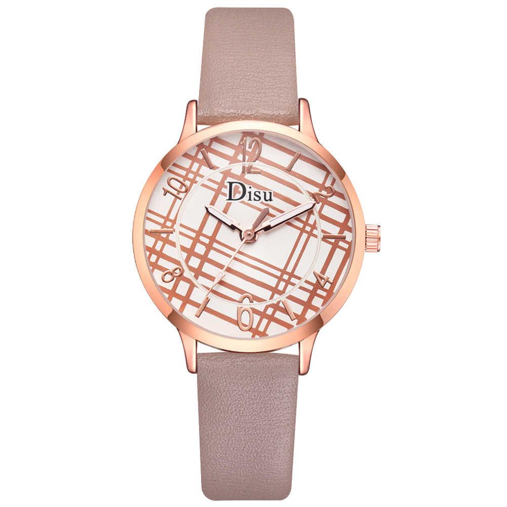2019 Женская мода сетка арабский набор номера лента, сиденье из искусственной кожи кварцевые наручные часы