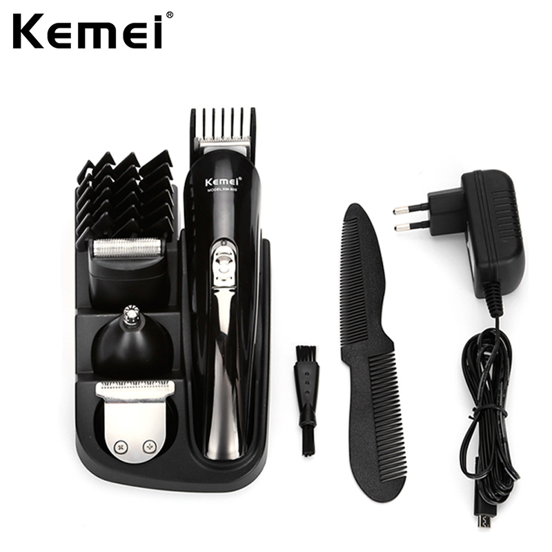 Kemei 8 in 1 Rechargeable Hair Trimmer Clipper Electric Shaver Beard Nose Trimmer Shaver Shaving Machine Kit for Men KM-500 lucky chance in may men shandbags 8