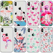 Transparent for iphone xr case silicone phone-case X 7 6 8 6S Plus Painted xs max phone cases 5 5s se