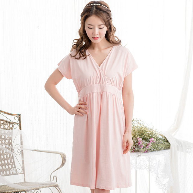 1e84198c69116 Women Pregnant Summer Pajamas 2016 Pigiama Allattamento Mother Nighties  Cotton Princess Nightgown Women Sleepwear 70M077