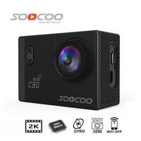 Free Shipping!!Original SOOCOO C30 Wifi Ultra HD 2K 2.0 Screen 170 Angle Adjustable Waterproof Outdoor Sports Action Camera