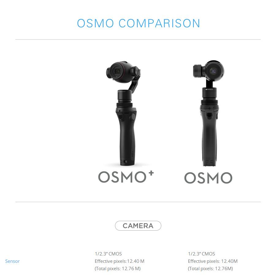 DJI OSMO Plus VS Osmo