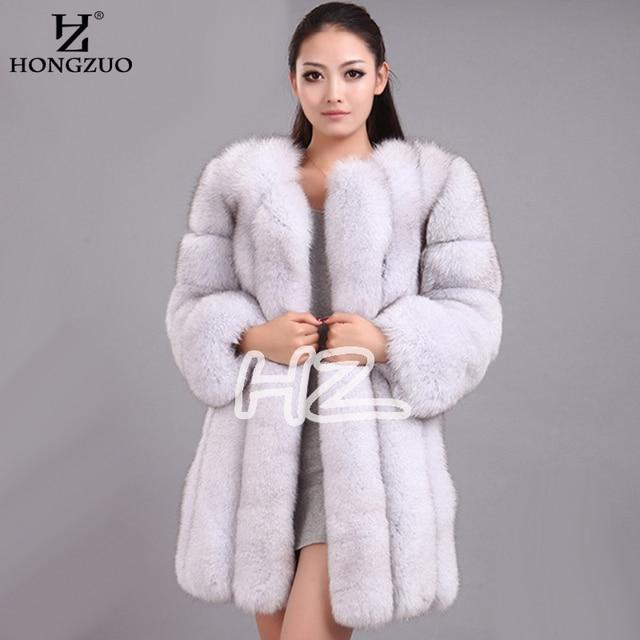 2018 High Imitation Women's Fur Coats Faux Fur Coat Female Artificial Fox Fur Jacket Winter Warm Long Overcoat 4XL PC240