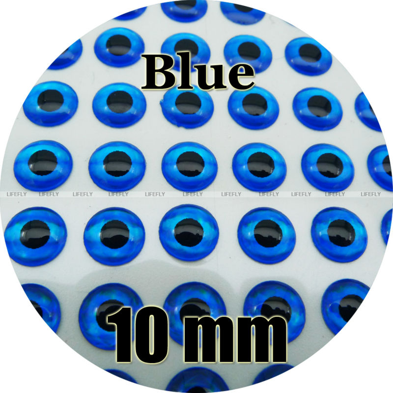 Fly Wholesale 500 Soft Molded 3D Holographic Fish Eyes 9mm 3D FL.Red Jig