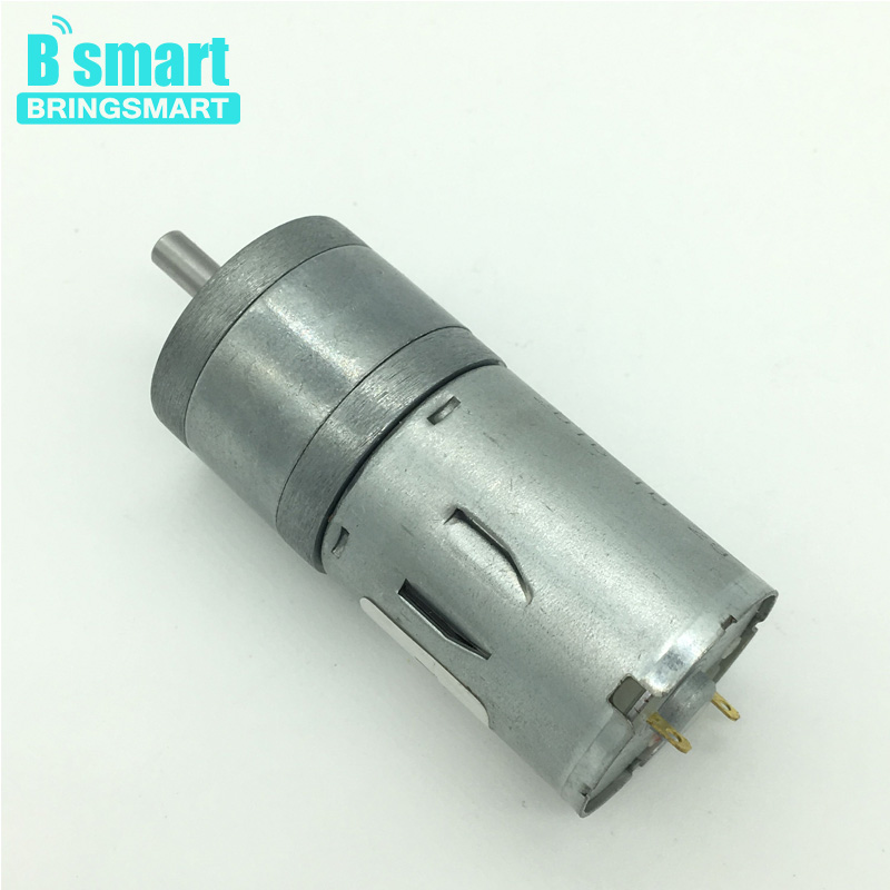 Bringsmart jga25 370 gear motor 12v dc low rpm robot high for Low rpm motor dc
