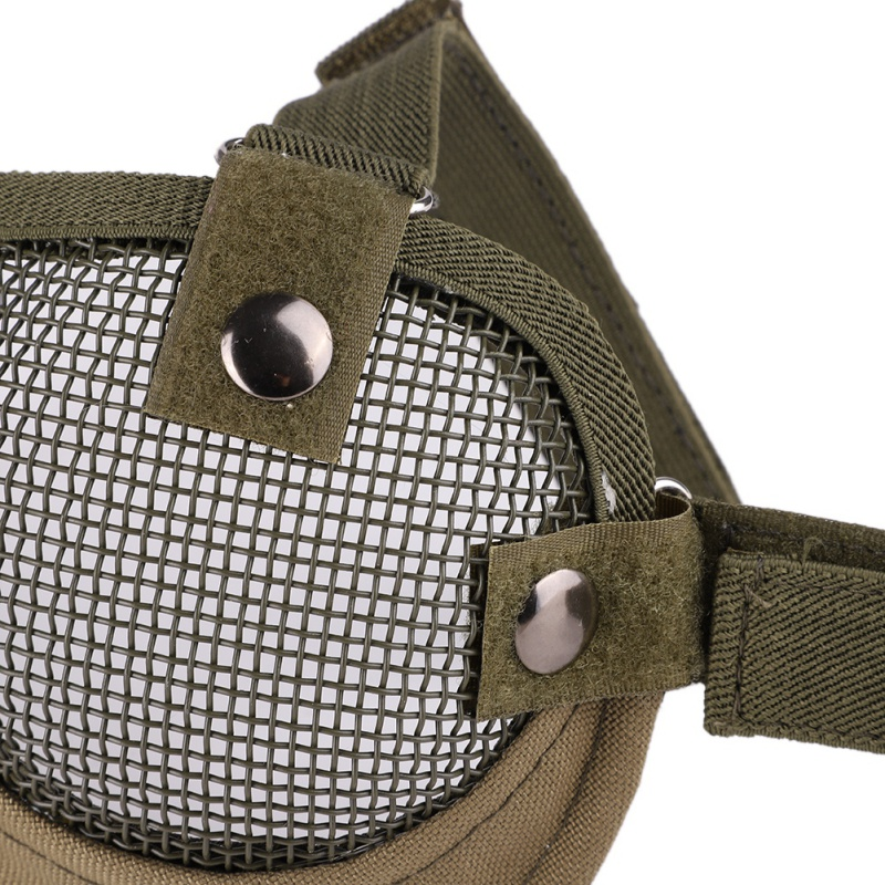 Airsoft Party Mask Paintball Full Face Mask Army Games Mesh Eye Shield Mask for Halloween Cosplay Party Decor Half Face Mask