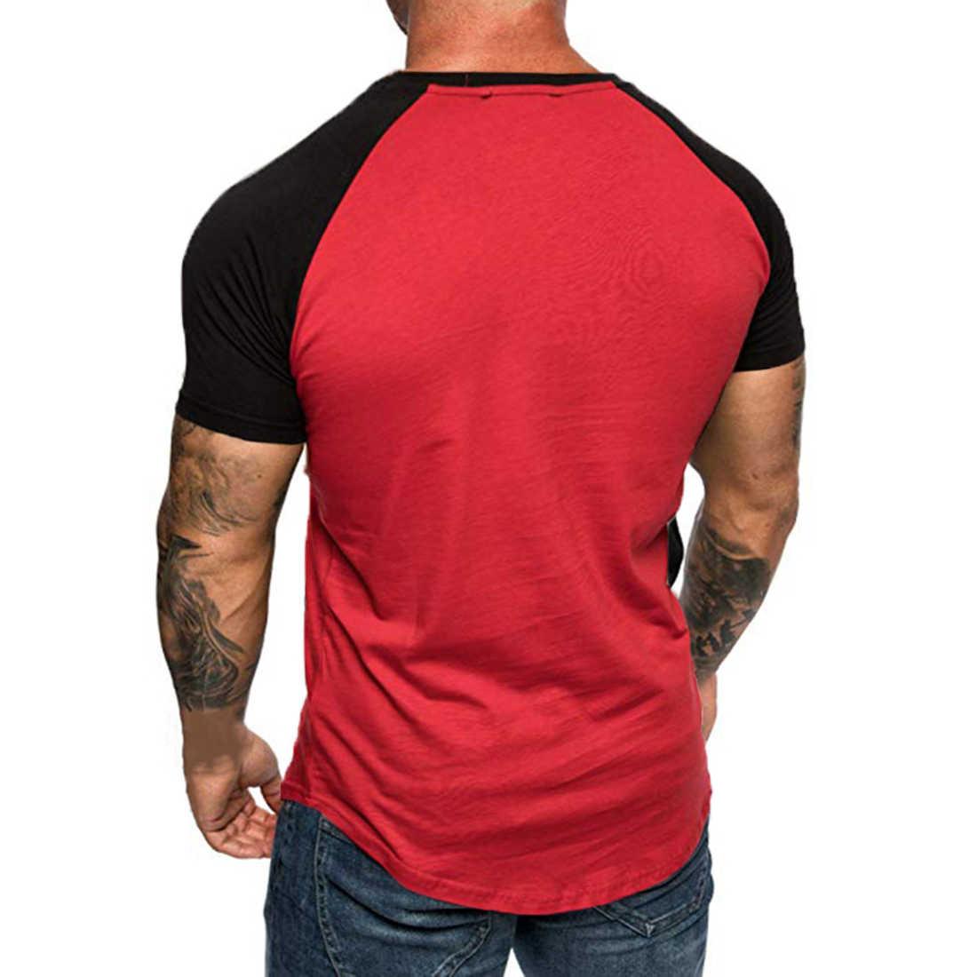 HEFLASHOR קיץ mens טלאים קצר t חולצה slim ספורט jogger בסיסית למעלה טי קרוע שרוול בתוספת גודל t חולצה camiseta hombre