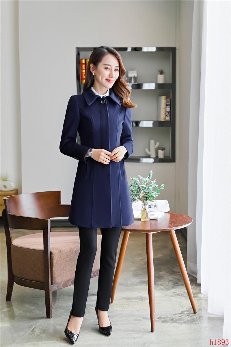 Dames Automne Vêtements 2019 Long Survêtement Bleu Nouveau Marine Femelle Manteau Mode Femmes Hiver URq5Bx7