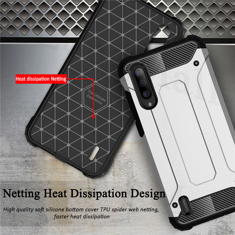 Heavy Duty Hybrid Armor Case on for Xiaomi Mi CC9 CC9e A3 A2 9T 9 8 SE Lite Mix 3 Redmi Note 7 6 K20 Pro 7A 6A Hard Rugged Cover in Fitted Cases from Cellphones Telecommunications