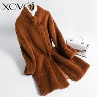 Mouton wool coat women's jacket Sheep sheared white pink coat women's winter coat woman fur coat winter elegant
