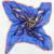 Verão 90*90 cm Azul Escuro 100% Mulberry Lenços de Seda, Venda Quente do Teste Padrão de Borboleta 100% Crepe Cetim de Seda Xaile do lenço Impresso