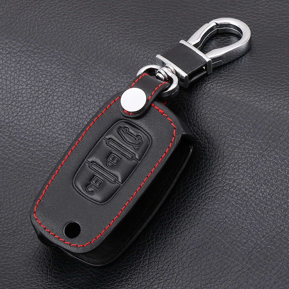 Image 5 - Car folding key Leather Case for LADA Sedan Largus Kalina Granta Vesta X Ray XRay Remote Key Fob Cover Protect Set-in Key Case for Car from Automobiles & Motorcycles