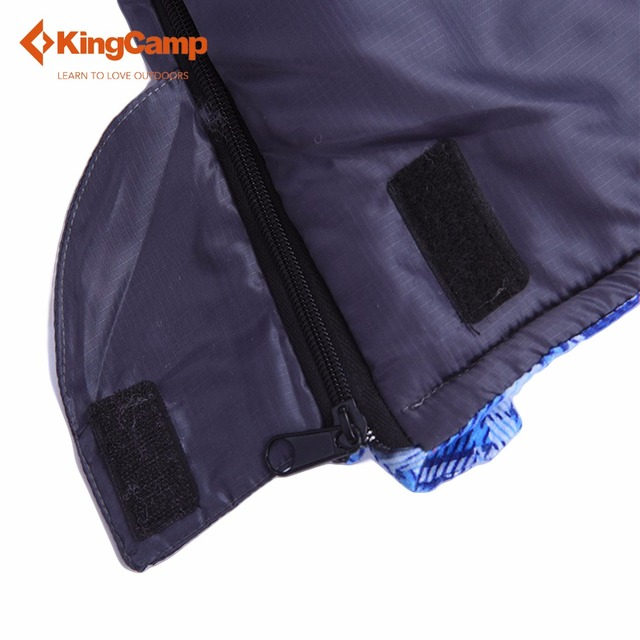 KingCamp Camping Envelope Sleeping Bag with Flannel Lined 4 Color Outdoor Sleeping Bag for Spring & Autumn Four Colors Available