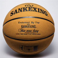 SANKEXING Basketball Professional Basketball Ball Size 7 Leather Indoor Outdoor Anti slip Team Sports Ball for Men Fitnees Balls