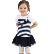 Yi Xias a playful girl Philippines generation qz55 short sleeved stripe