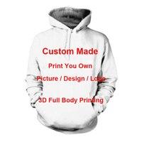 Homens/Mulheres de Criar Seu Próprio Projeto Do Cliente Anime/Foto/Estrela/Que Você Quer/Cantor Padrão/DIY T-Shirt de Impressão 3D Camiseta Sublimação