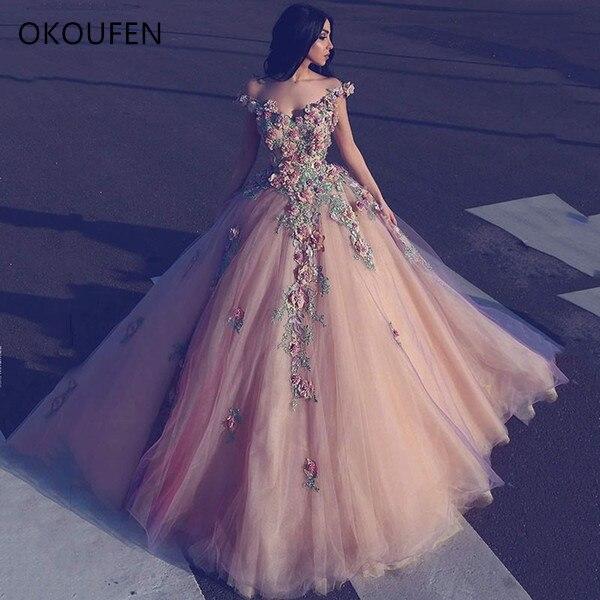 2017 New Long Evening Gowns Elie Saab Off Shoulder Prom Dress Floor Length Appliqued Runway Fashion Dresses