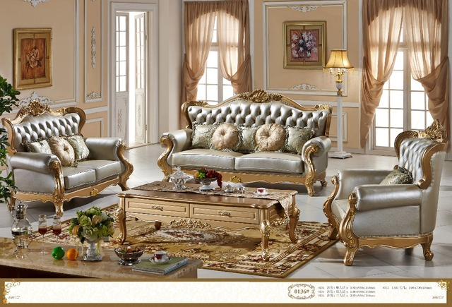 French furniture living room sectional sofa F135-in Living Room ...