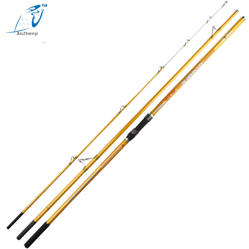 Anzhenji Top 4.2m Casting Carbon Lure Fishing Rod 3 Sections Long Pole Surfcasting Rods Throw European Pole Carp Peche goture bait casting fishing rod pike rods 2 1m 2 4m m power 2 sections carbon fiber fishing pole lure rods