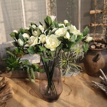1 Pc Gardenia Flower Artificial Plant Jasmine Indoor Plants Simulation for Wedding Party and Home Dec