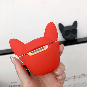 Image 5 - Hot Pet dog 3D red soft silicon Wireless Earphone Charging Box Cover Bag for Apple AirPods 1 2 French Bulldog Bluetooth case