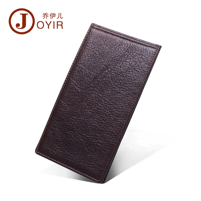 2017 Genuine Leather Men Credit Card Holder Business Male Wallet Fashion Purse Card Holder Long Clutch Wallets Men Gift K003