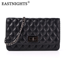 EASTNIGHTS 2017 New Sheepskin Bags Ladies Real Leather Bags Women Handbags High Quality Tote Bag for Women Black Fashion TW2819