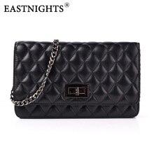 EASTNIGHTS 2017 New Sheepskin Bags Ladies Real Leather Women Handbags High Quality Tote Bag for Black Fashion TW2819