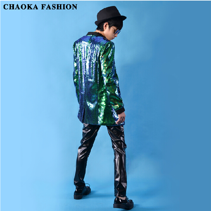 Long Paragraphe Paris Chanteur Hommes De Chi Section Costume Paillettes Dj Vert Vêtements 2016 À Costumes Veste Gd La Même IPYq5