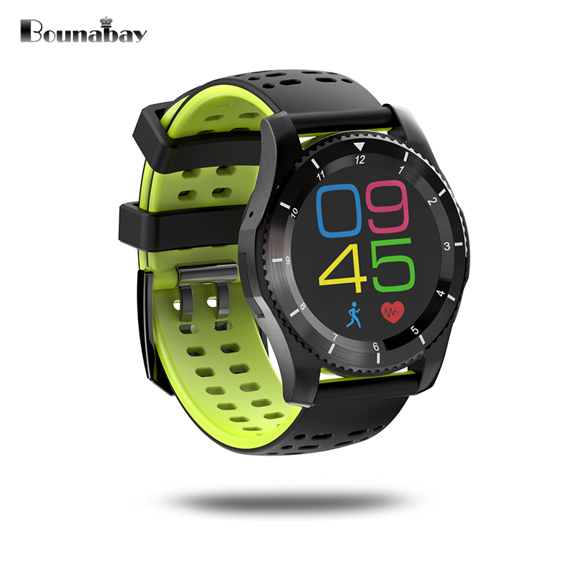 BOUNABAY Multi-lingual Bluetooth Analog pointe touch screen watch for man sports watches Android ios phone men Clocks mens clock