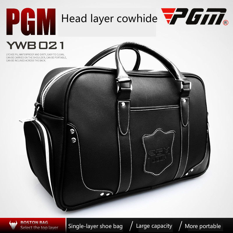 PGM golf bag man portable bag built in shoe bag simulation mini golf course display toy set with golf club ball flag
